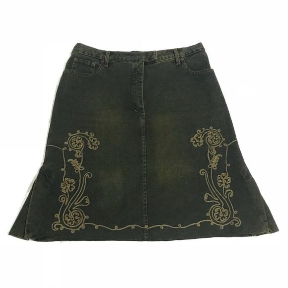 Jean Paul Gaultier Dresses & Skirts - Jean Paul Gaultier Vintage 100%Cotton Green Skirt